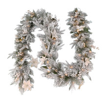 Гирлянда из хвои Frosted Colonial Garland 274 см 70 led